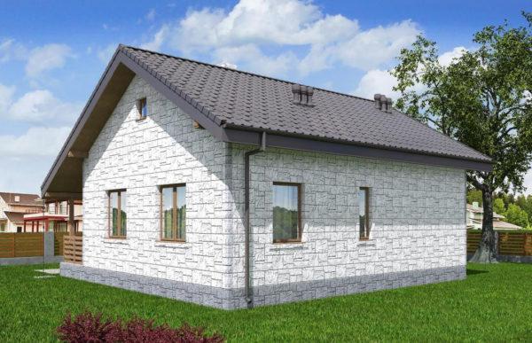 проект дома из теплоблока SDn 572 8