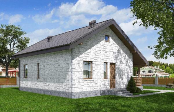 проект дома из теплоблока SDn 572 9