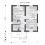 проект дома из теплоблока SDn-592 1