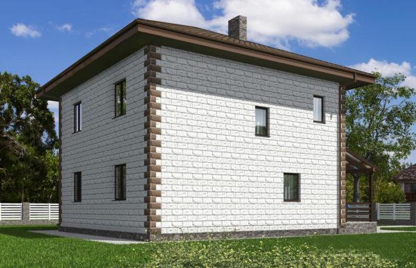 проект дома из теплоблока SDn 592 10