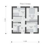 проект дома из теплоблока SDn-592 2