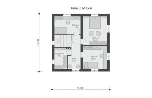 проект дома из теплоблока SDn 592 2