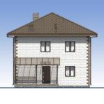 проект дома из теплоблока SDn-592 3