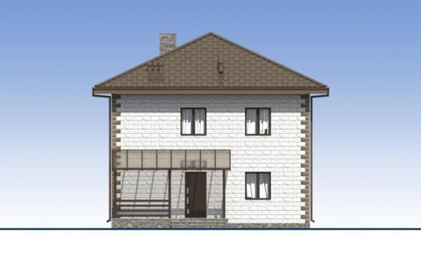 проект дома из теплоблока SDn 592 3