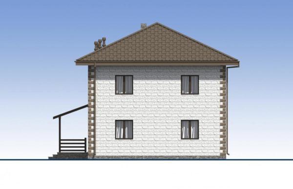 проект дома из теплоблока SDn 592 4