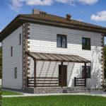 проект дома из теплоблока SDn-592 7