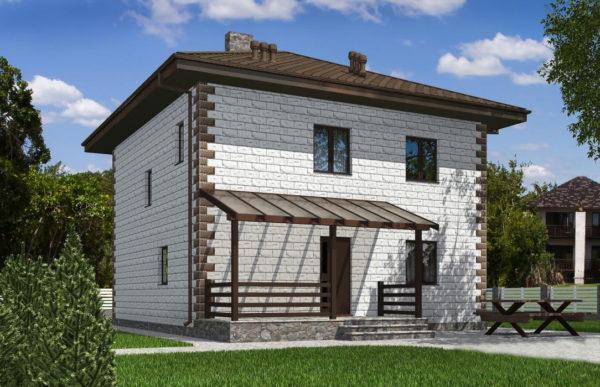 проект дома из теплоблока SDn 592 7