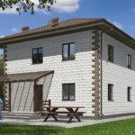 проект дома из теплоблока SDn-592 8