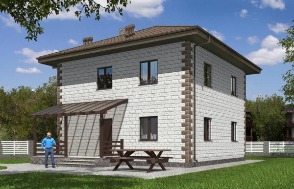 проект дома из теплоблока SDn 592 8