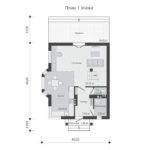 проект дома из теплоблока SDn-596 1