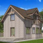 проект дома из теплоблока SDn-596 10