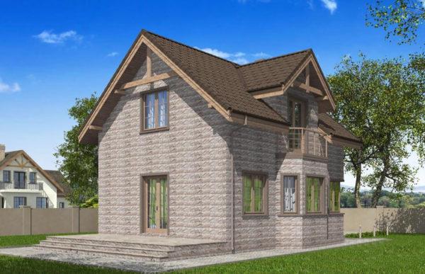 проект дома из теплоблока SDn 596 10