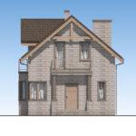 проект дома из теплоблока SDn-596 2