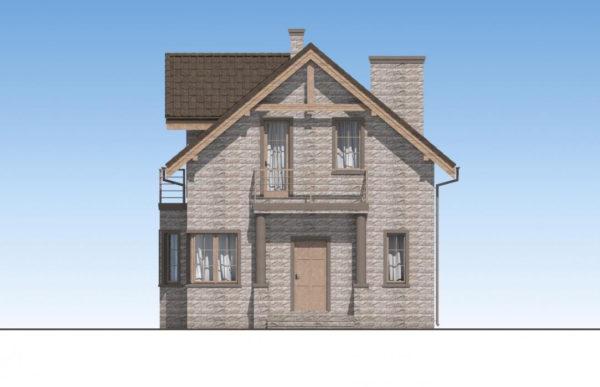 проект дома из теплоблока SDn 596 2