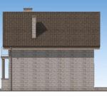 проект дома из теплоблока SDn-596 3
