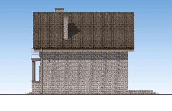 проект дома из теплоблока SDn 596 3