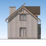 проект дома из теплоблока SDn-596 4