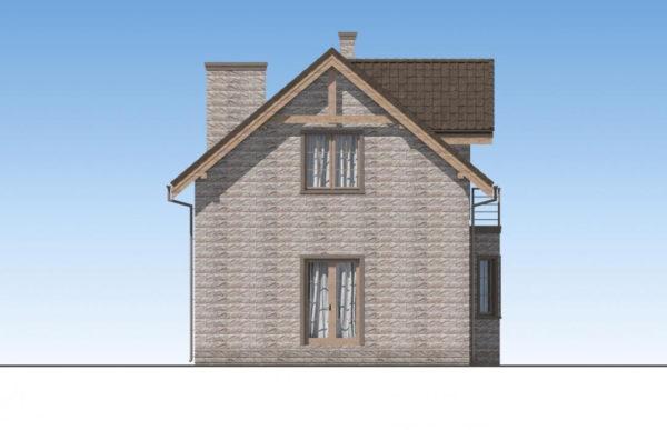проект дома из теплоблока SDn 596 4