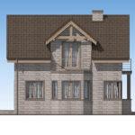 проект дома из теплоблока SDn-596 5