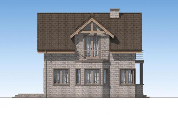 проект дома из теплоблока SDn 596 5