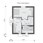 проект дома из теплоблока SDn-596 6
