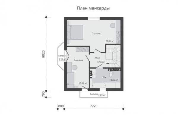 проект дома из теплоблока SDn 596 6