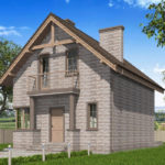 проект дома из теплоблока SDn-596 7