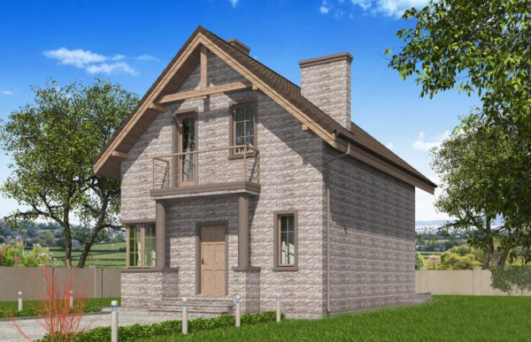 проект дома из теплоблока SDn 596 7
