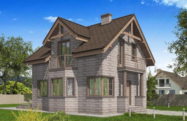 проект дома из теплоблока SDn 596 8