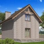 проект дома из теплоблока SDn-596 9