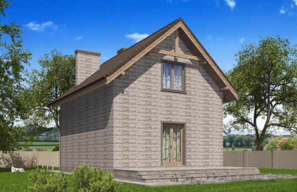 проект дома из теплоблока SDn 596 9