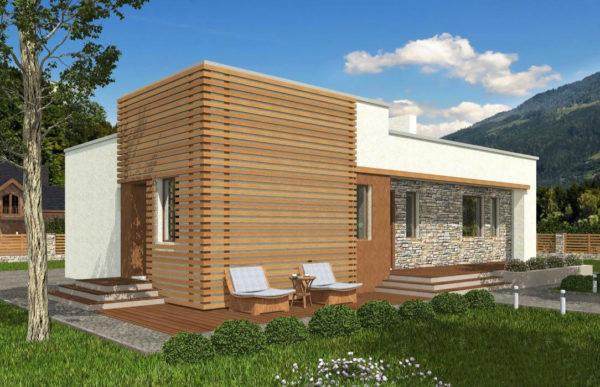 проект дома из теплоблока SDn 833 7