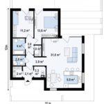 проект каркасно-монолитного дома SDn-414 1