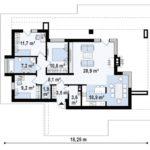 проект каркасно-монолитного дома SDn-422 9