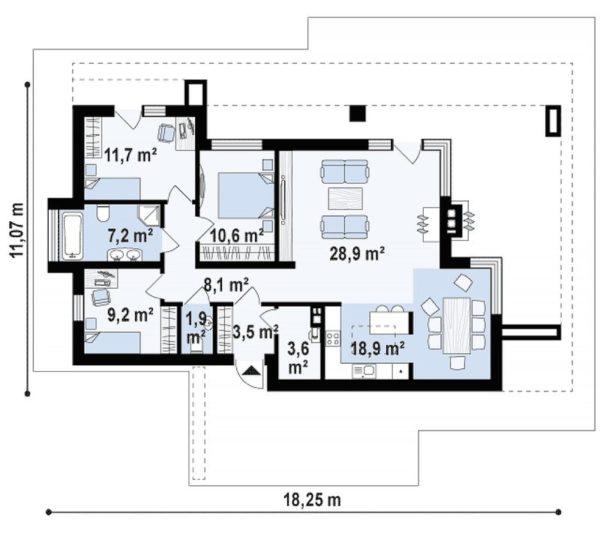 проект каркасно монолитного дома SDn 422 9