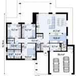 проект каркасно-монолитного дома SDn-427 10