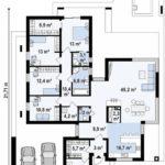 проект каркасно-монолитного дома SDn-428 11