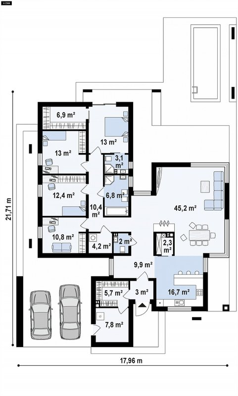 проект каркасно монолитного дома SDn 428 11