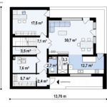 проект каркасно-монолитного дома SDn-429 1