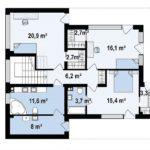 проект каркасно-монолитного дома SDn-429 2