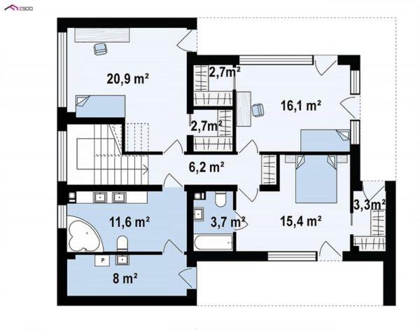 проект каркасно монолитного дома SDn 429 2