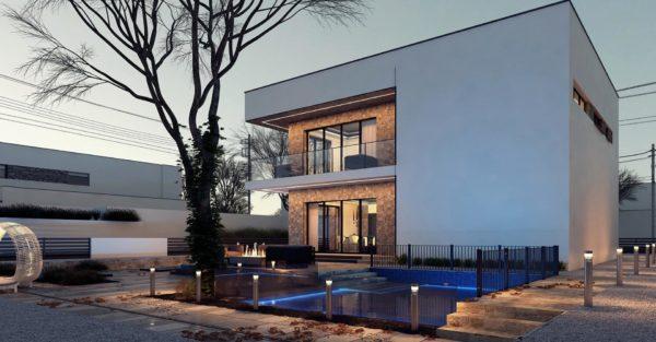 проект каркасно монолитного дома SDn 429 4