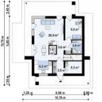 проект каркасно-монолитного дома SDn-430 1