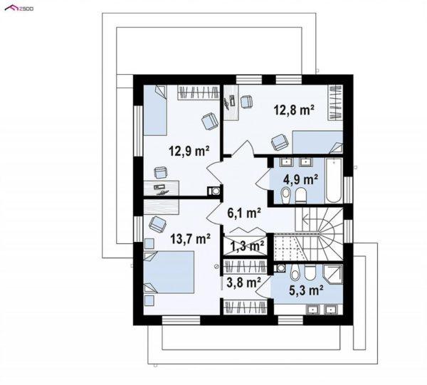 проект каркасно монолитного дома SDn 430 2