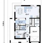 проект каркасно-монолитного дома SDn-431 1
