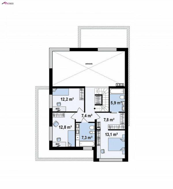 проект каркасно монолитного дома SDn 431 2
