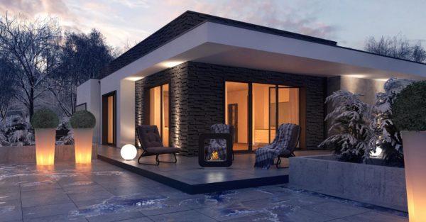 проект каркасно монолитного дома SDn 434 4