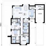 проект каркасно-монолитного дома SDn-434 7