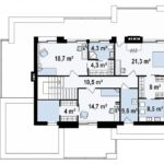 проект каркасно-монолитного дома SDn-444 2