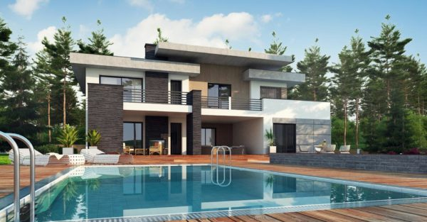 проект каркасно монолитного дома SDn 444 3